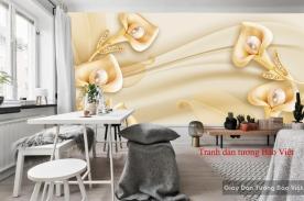 Tranh dán tường màu vàng FL087