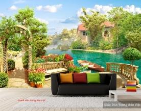 Tranh dán tường phong cảnh 3D Fi083