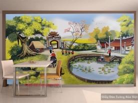 Tranh dán tường phong cảnh đồng quê Art001