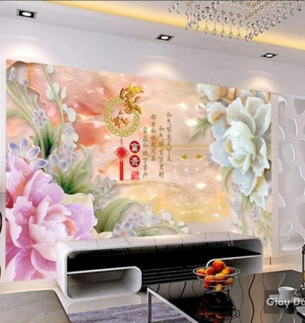 3d Floral Wallpaper Fl021 Bao Viet Wall Paintings