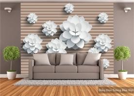 Tranh giấy dán tường hoa 3D H001