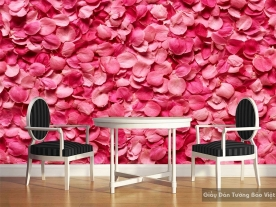 Tranh giấy dán tường hoa 3D H011