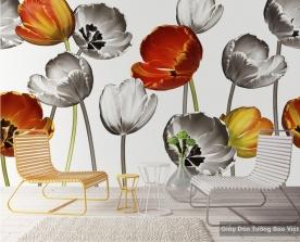 Tranh giấy dán tường hoa 3D H018