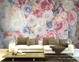 Tranh giấy dán tường hoa 3D H021