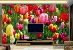 Tranh giấy dán tường hoa 3D H022