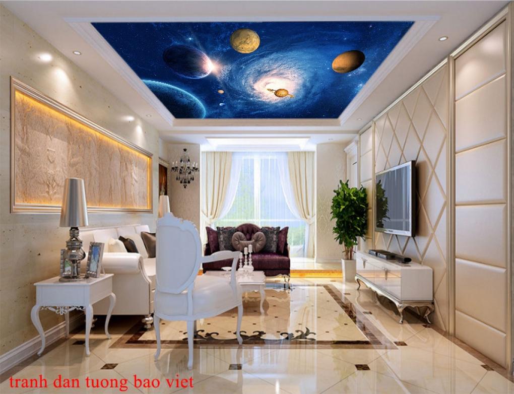 Tranh dán trần nhà 3d galaxy c186a