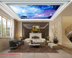 Tranh dán trần nhà 3d galaxy c176