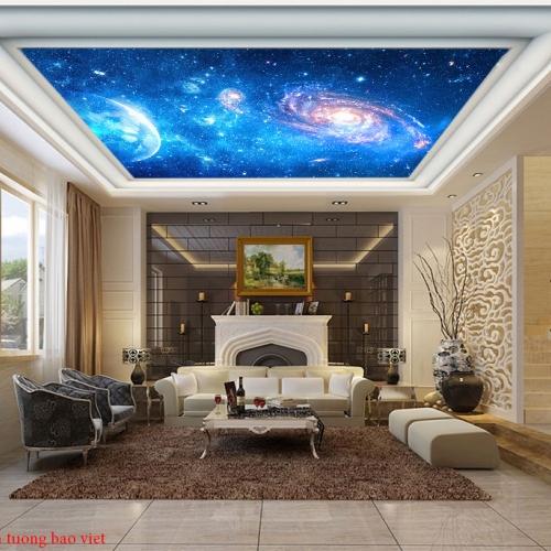 Tranh dán trần nhà galaxy c171