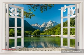 3d wall paintings of windows m069