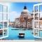Tranh dán tường cửa sổ 3D Fm172