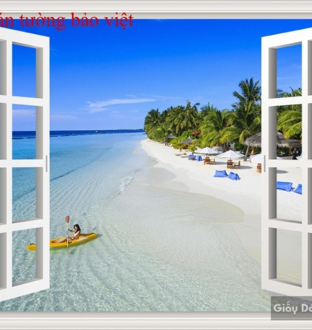 Tranh dán tường cửa sổ 3D S106