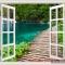Tranh dán tường cửa sổ 3D w090