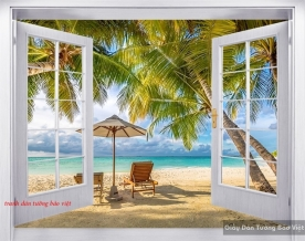 Wall paintings of 3d windows s185