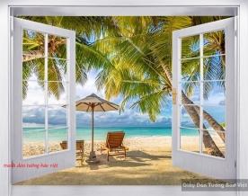 Tranh dán tường cửa sổ 3d s185