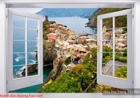 Wall paintings of 3d windows s196