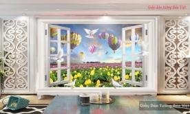 Tranh dán tường cửa sổ 3d v056