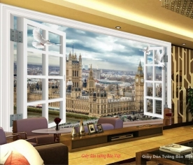 Wallpaper 3d office door v058