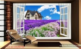 Tranh dán tường cửa sổ 3d v060