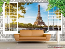 Wall paintings of 3d windows v106