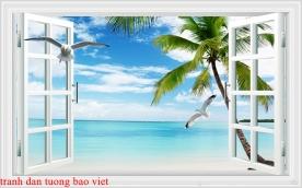 Tranh dán tường cửa sổ 3d me056