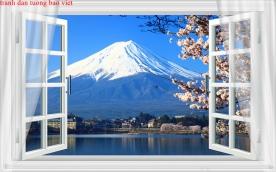 Tranh dán tường cửa sổ 3d me096