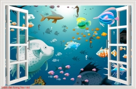 Wall paintings of 3d windows s221