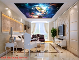 Wall paintings of ceiling galaxy c190