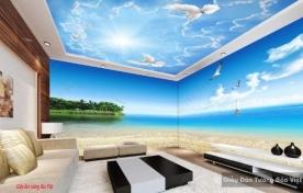 Tranh dán tường cảnh biển đẹp 3d v177