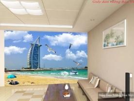 Tranh dán tường cảnh biển v011