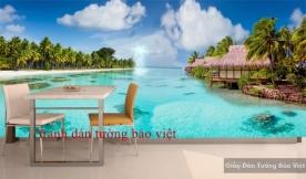 Tranh dán tường phong cảnh biển 3D S093