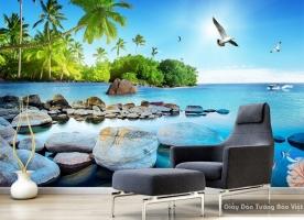 Tranh dán tường phong cảnh biển 3D S095