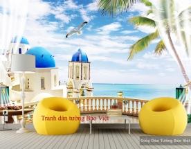Tranh dán tường phong cảnh biển 3D S115
