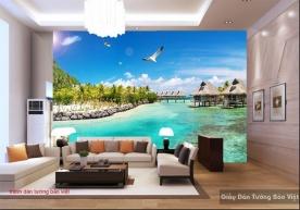 Tranh dán tường phong cảnh biển S150