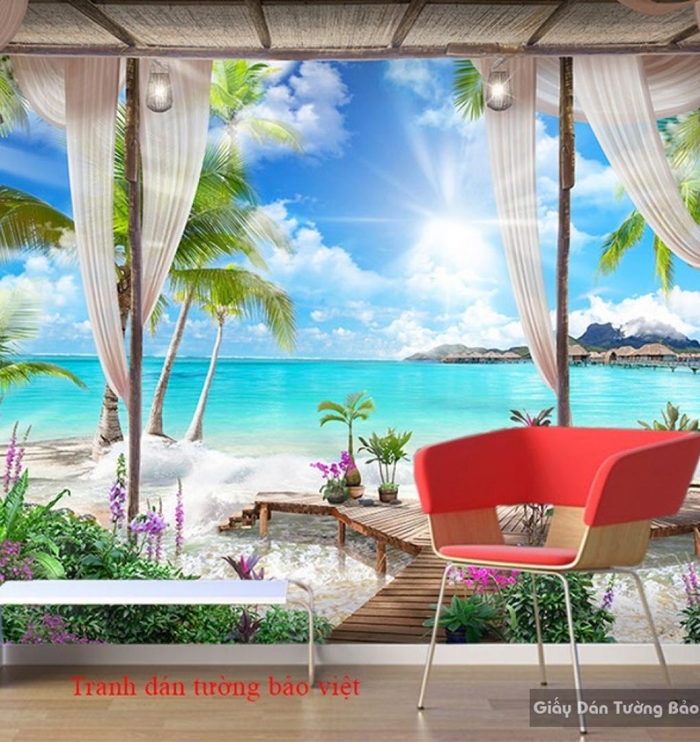 Tranh dán tường phong cảnh biển S151