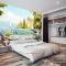 Tranh dán tường phong cảnh biển cho phòng ngủ S186