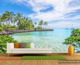 Tranh dán tường phong cảnh biển s206