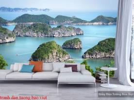 Tranh dán tường phong cảnh biển s209