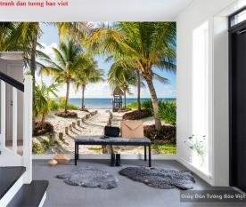 Tranh dán tường phong cảnh biển s214