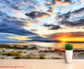 Tranh dán tường phong cảnh biển me002