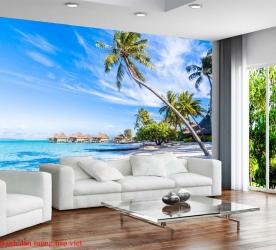 Tranh dán tường phong cảnh biển me017