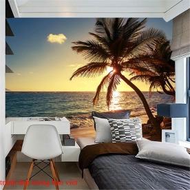 Tranh dán tường phong cảnh biển me059