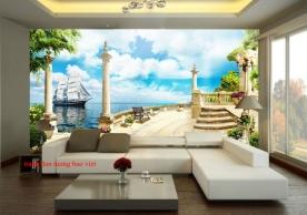 Tranh dán tường phong cảnh biển s251