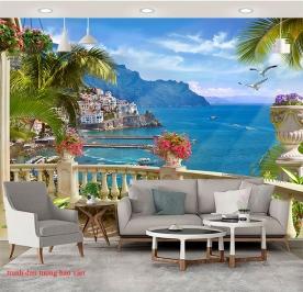 Tranh dán tường phong cảnh biển s255