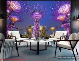 Tranh dán tường phong cảnh singapore Fm352