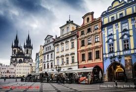 Tranh dán tường phong cảnh thành phố Prague fm262