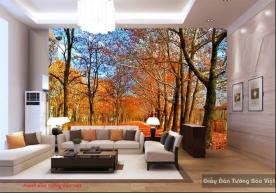 Tranh dán tường phong cảnh mùa thu tr234
