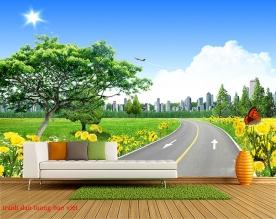 Tranh dán tường phong cảnh thiên nhiên fi128