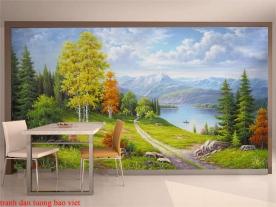 Tranh dán tường phong cảnh thiên nhiên tr311