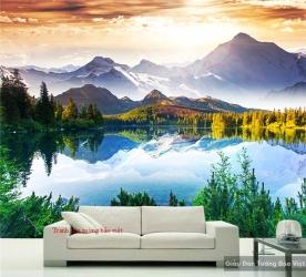 Tranh dán tường phong cảnh sông núi M048