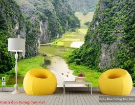 Tranh dán tường phong cảnh sông núi Việt nam m074